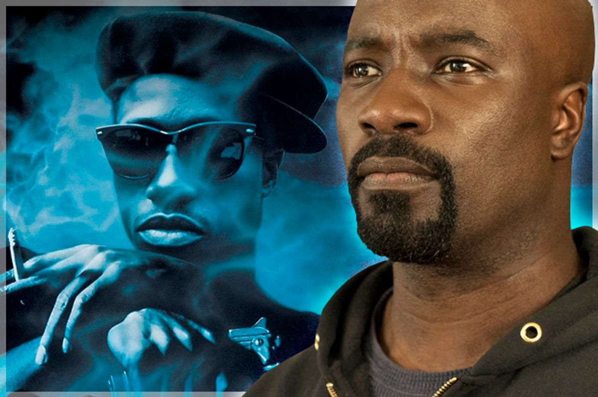 """Wesley Snipes in """"New Jack City;"""" Mike Colter in """"Luke Cage""""   (Warner Bros. Pictures/Netflix)"""
