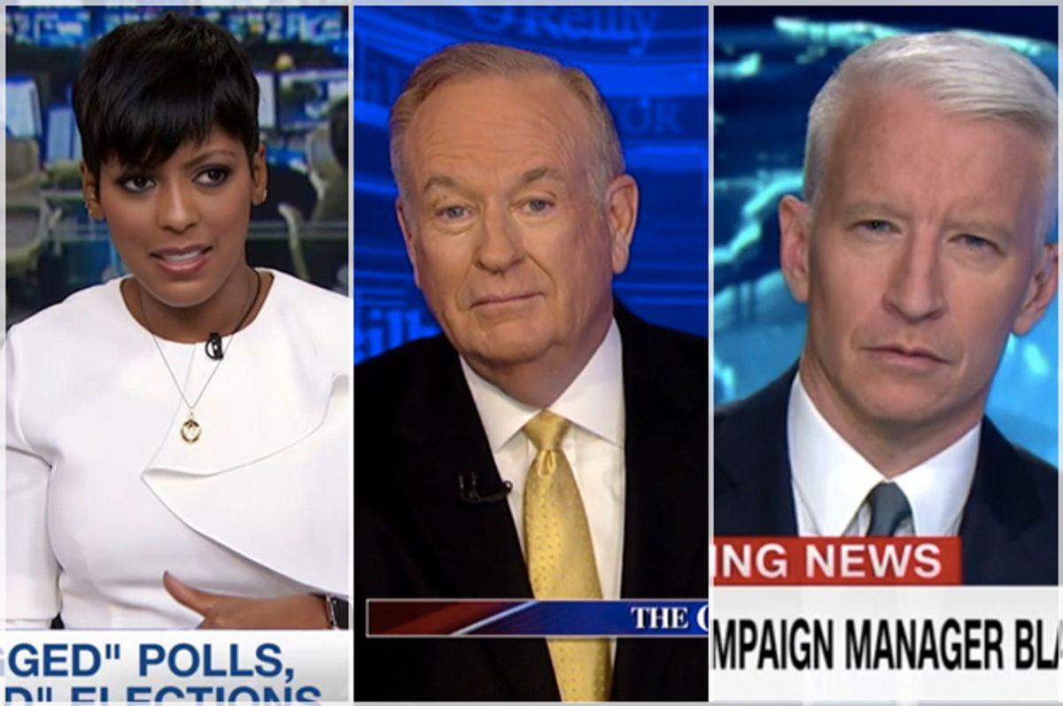 (MSNBC/FOX News/CNN)