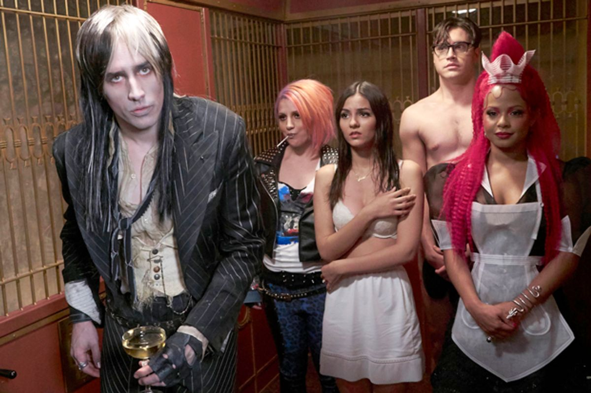 """Reeve Carne, Annaleigh Ashford, Victoria Justice, Ryan McCartan and Christina Milian in """"The Rocky Horror Picture Show""""   (Fox)"""