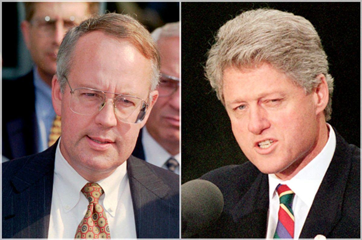 Ken Starr; Bill Clinton   (AP/Spencer Tirey/Joe Marquette)