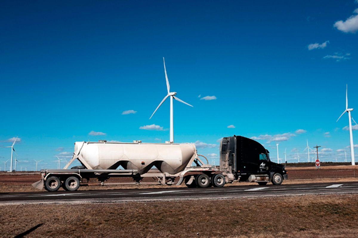 Wind turbines at a wind farm in Colorado City, Texas, January 21, 2016.   (Getty/Spencer Platt)