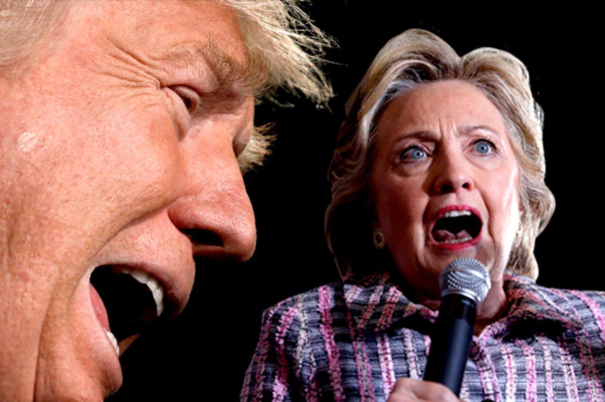 Donald Trump; Hillary Clinton   (Reuters/Mike Segar/Getty/Justin Sullivan/Photo montage by Salon)