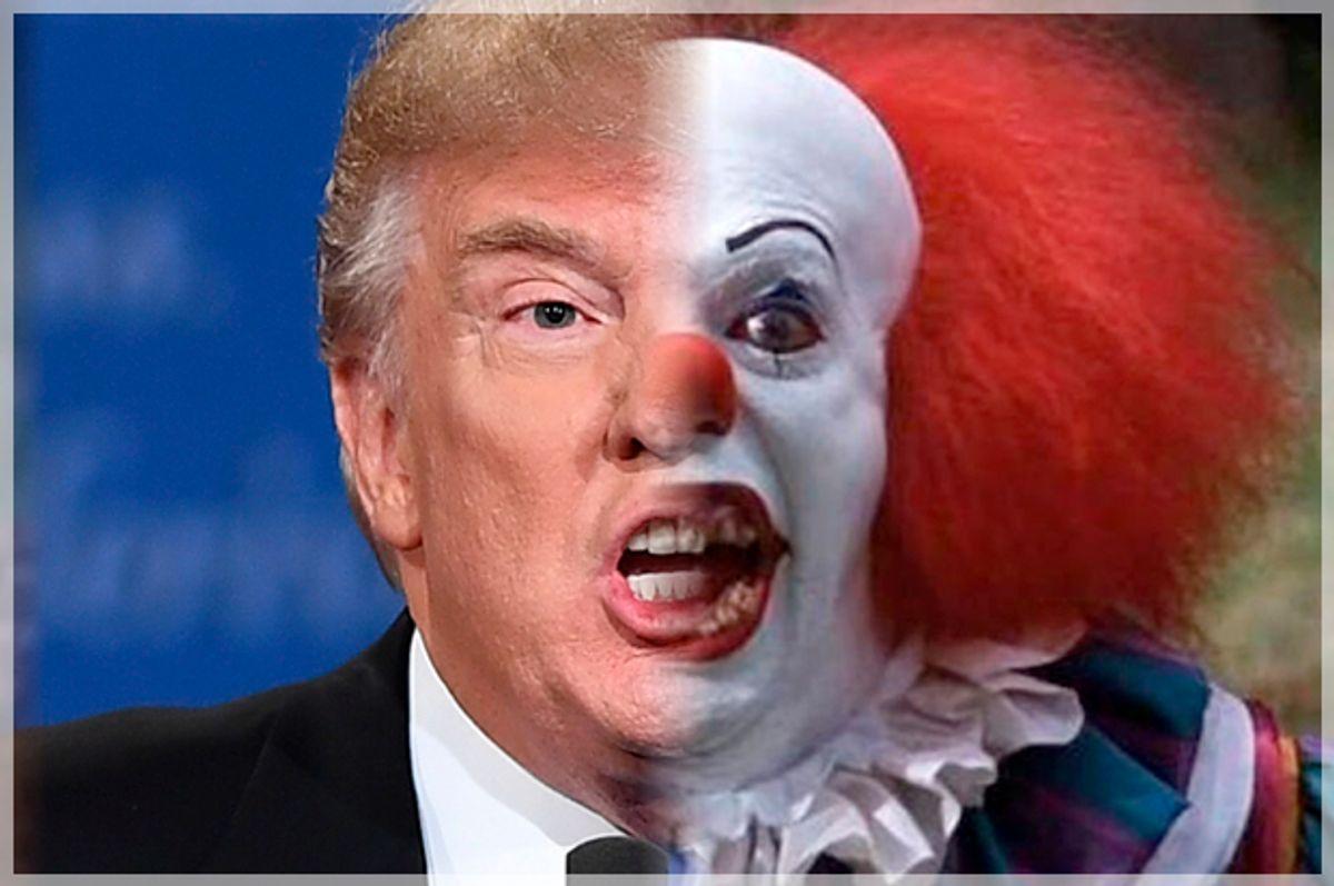 "Donald Trump; Pennywise  from ""It""   (Getty/Jewel Samad/Warner Bros./Salon)"