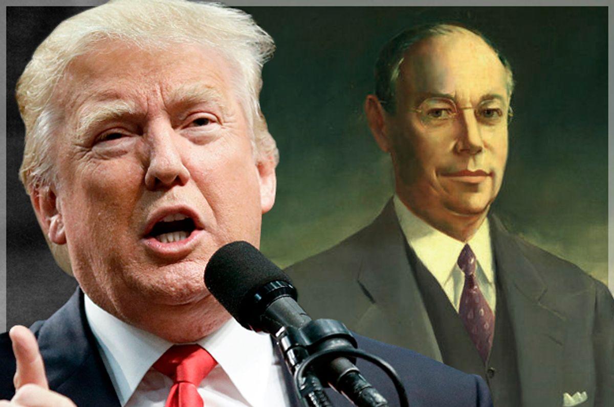 Donald Trump; Robert A. Taft   (AP/Chris Carlson/Wikimedia/Salon)