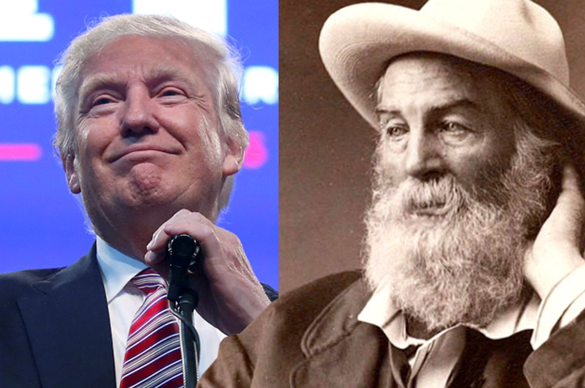 Donald Trump; Walt Whitman   (Reuters/Carlo Allegri/Wikimedia)