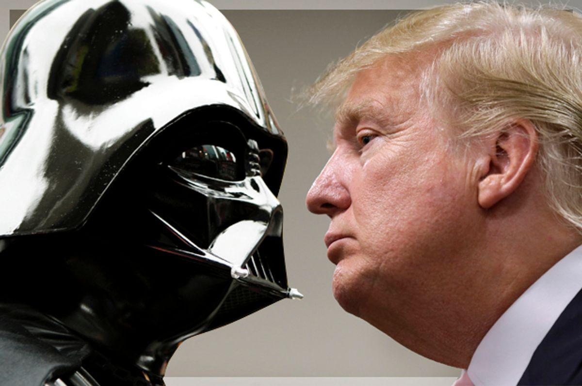 Darth Vader; Donald Trump   (Getty/Mat Szwajkos/AP/Charlie Neibergall)