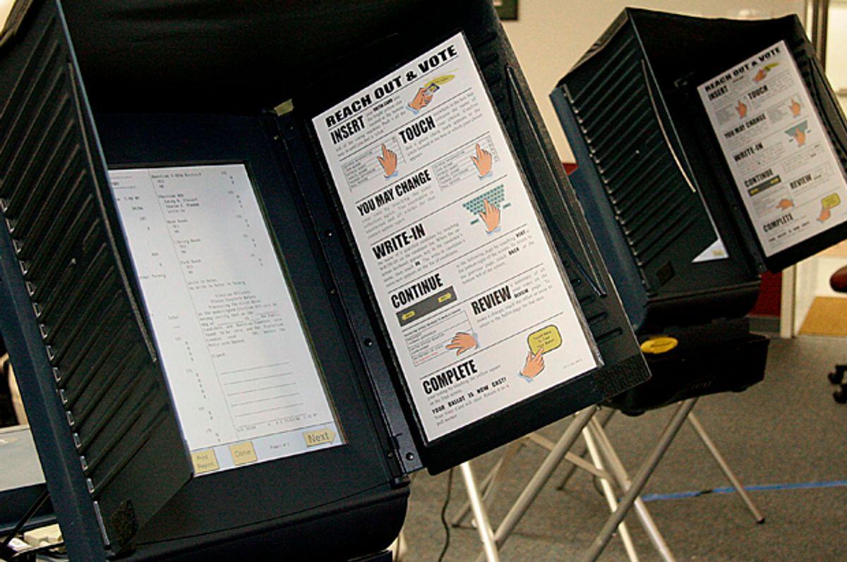 Electronic voting machines   (Getty/Karen Bleier)
