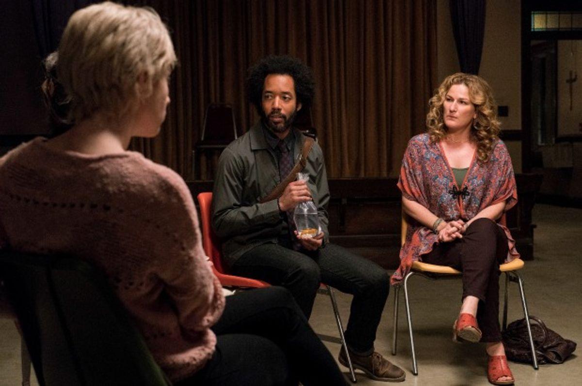 "Alice Wetterlund, Wyatt Cenac and Ana Gasteyer in ""People of Earth"" (Ian Watson/TBS)"