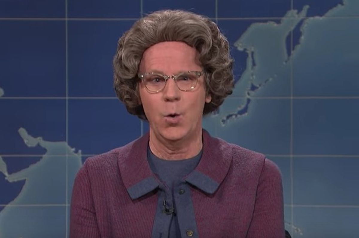 "Dana Carvey as Church Lady on ""Saturday Night Live,"" November 5, 2016. (NBC)"