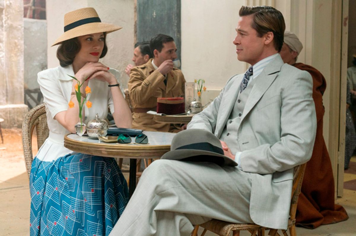 """Marion Cotillard and Brad Pitt in """"Allied""""   (Paramount Pictures)"""