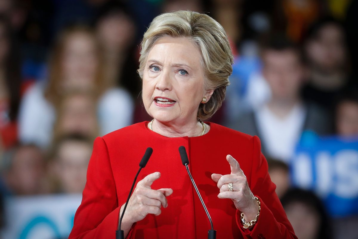 Democratic presidential candidate Hillary Clinton speaks at a campaign rally at Kent State University, Monday, Oct. 31, 2016, in Kent, Ohio. (AP Photo/John Minchillo) (AP)