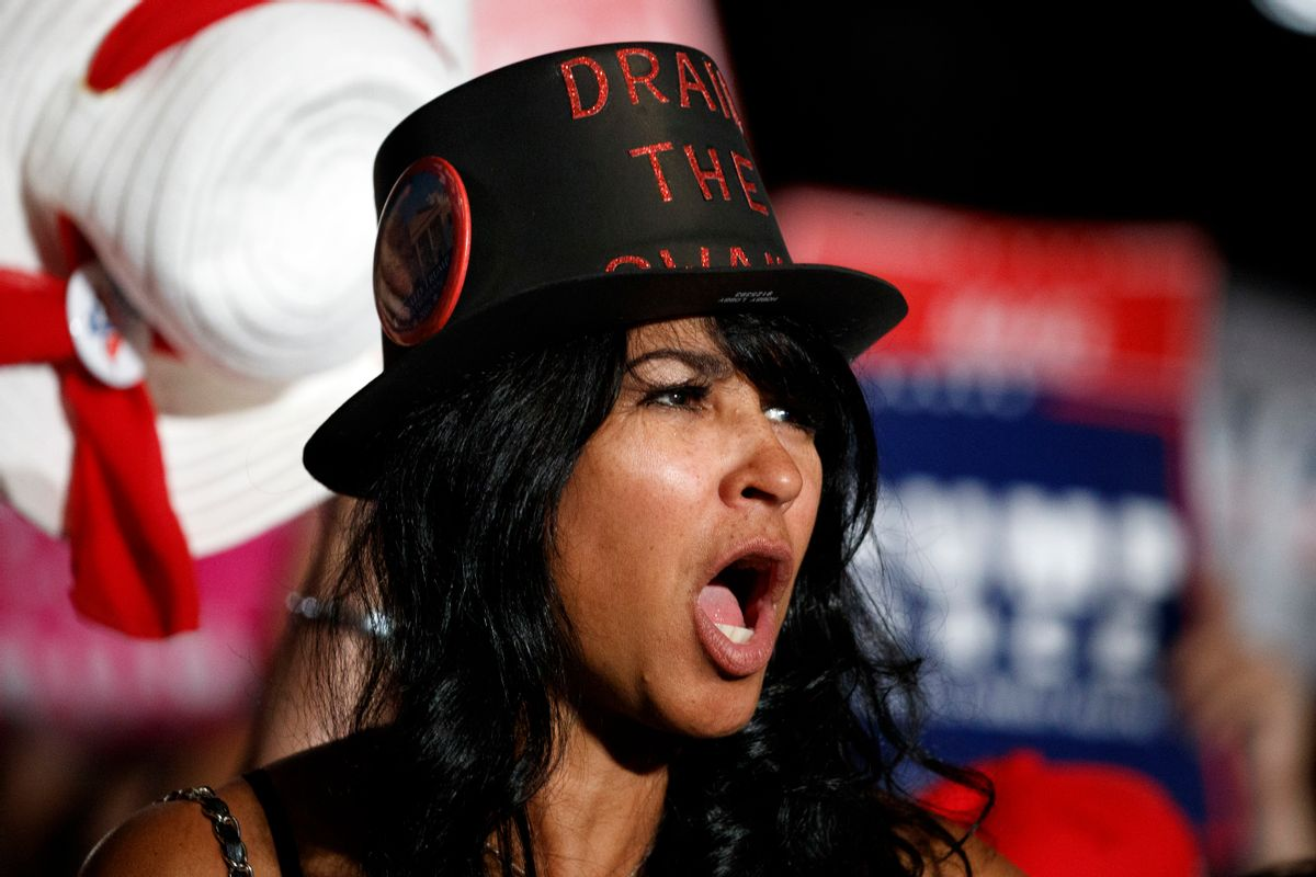 A supporter of Republican presidential candidate Donald Trump cheers during a campaign rally, Wednesday, Nov. 2, 2016, in Pensacola, Fla. ( (AP)