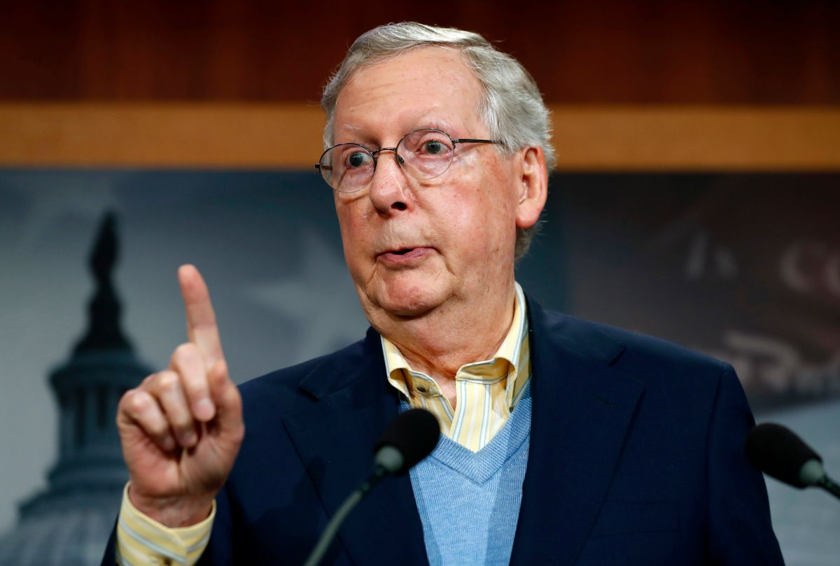 In this Nov. 9, 2016, photo, Senate Majority Leader Mitch McConnell of Ky. speaks during a news conference on Capitol Hill in Washington.  (AP)