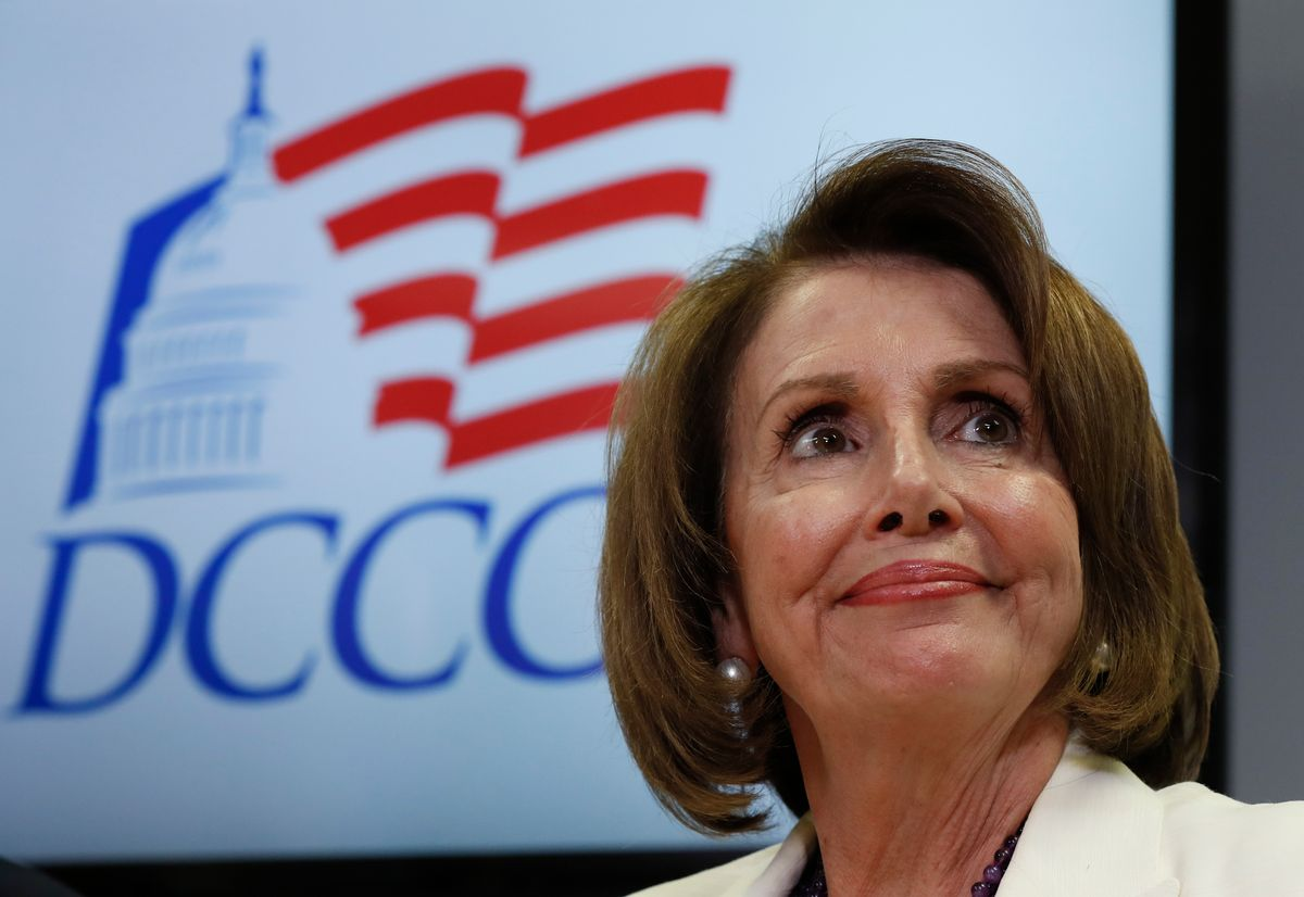 FILE - In this Nov. 8, 2016, file photo, House Minority Leader Nancy Pelosi of Calif. pauses during an election day news conference at the Democratic Congressional Campaign Committee Headquarters in Washington. Pelosi is a survivor, who enjoys enormous respect and goodwill among most Democrats, even as many of her closest allies have left Congress. She has managed to maintain unity within the diverse flock of House Democrats and is an unparalleled fundraiser for them, collecting more than $100 million in the past cycle alone. (AP Photo/Carolyn Kaster, File) (AP)