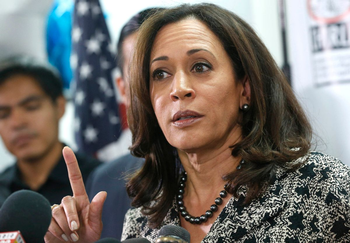 Senator-elect Kamala Harris speaks with immigrant families and their advocates, discussing the election results and the nation's future in Los Angeles, Thursday, Nov.10, 2016. Harris said she will fight to preserve protections advocates fear could be dismantled once Donald Trump becomes president. (AP Photo/Nick Ut) (AP)
