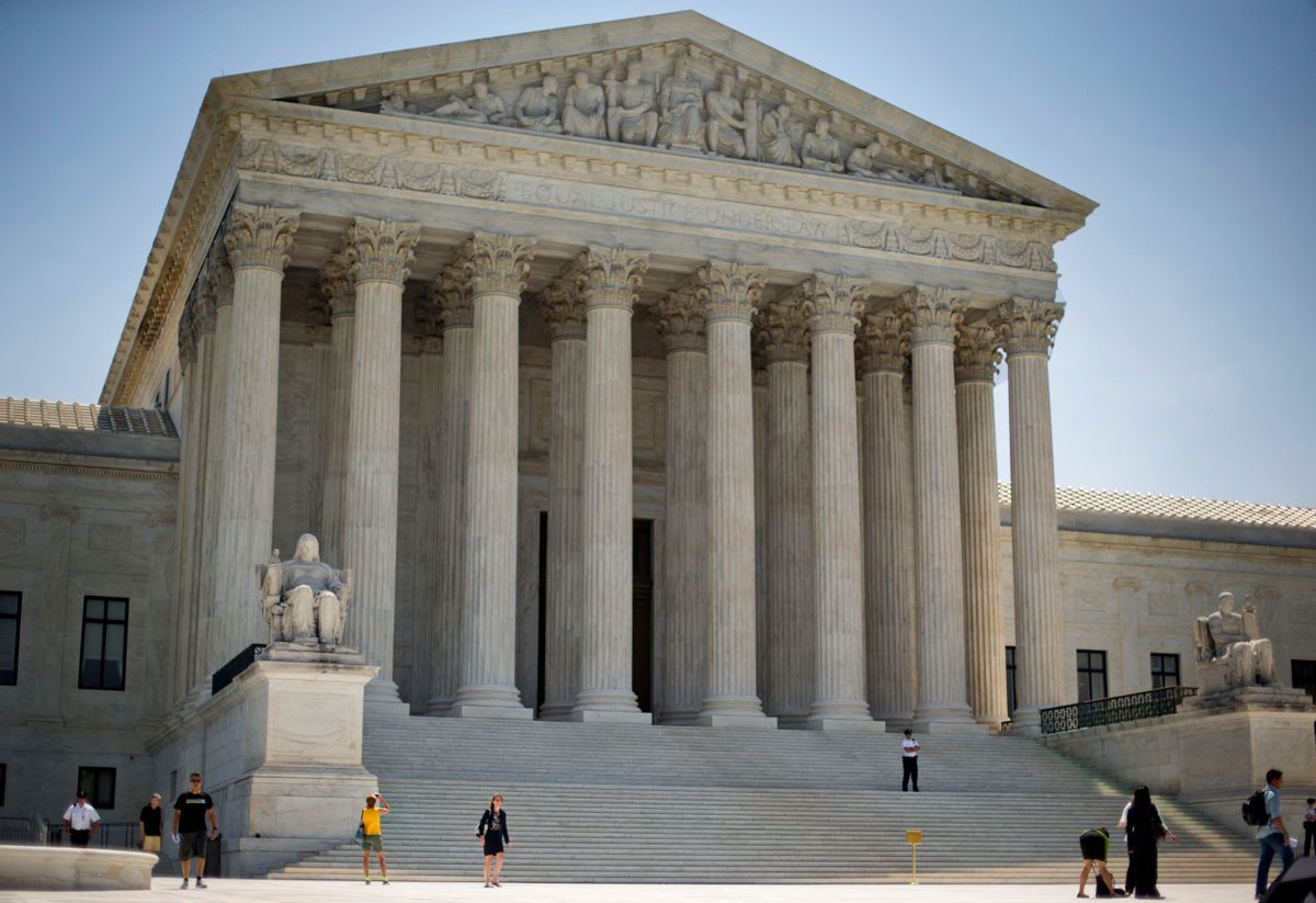 FILE - In this June 30, 2014 file photo, the Supreme Court is seen in Washington. Donald Trump will enter the Oval Office with the ability to re-establish the Supreme Court's conservative tilt and the chance to cement it for the long term. Trump is expected to act quickly to fill one court vacancy and could choose the successor for up to three justices who will be in their 80s by the time his term ends. (AP Photo/Pablo Martinez Monsivais, File) (AP)