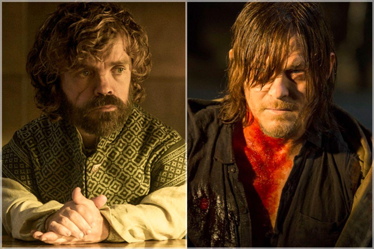 """Peter Dinklage in """"Game of Thrones,"""" Norman Reedus in """"The Walking Dead""""   (HBO/AMC)"""