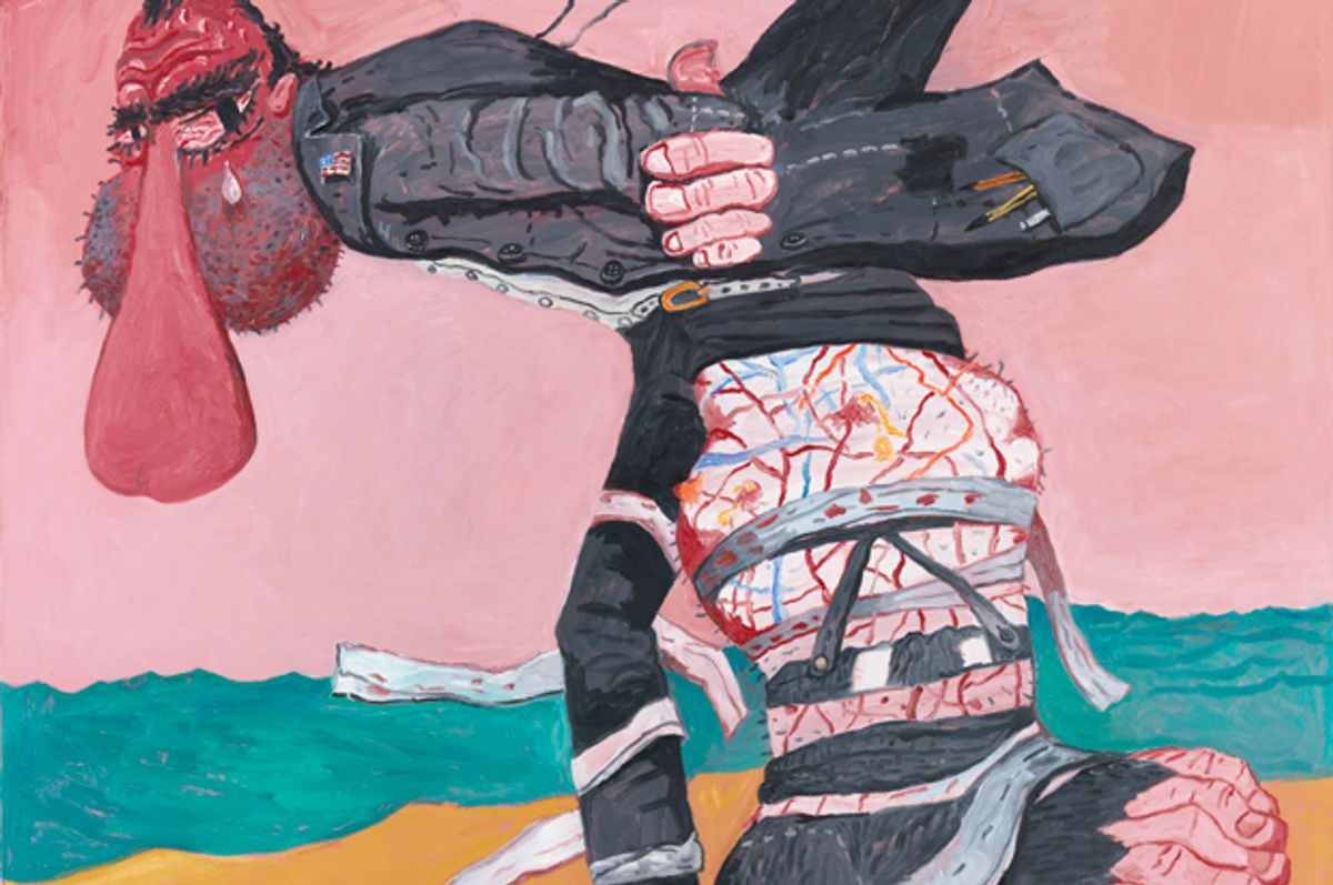"""Detail of  """"San Clemente"""" by Philip Guston.   (The Estate of Philip Guston, Courtesy Hauser & Wirth; Photo: Christopher Burke Studio)"""