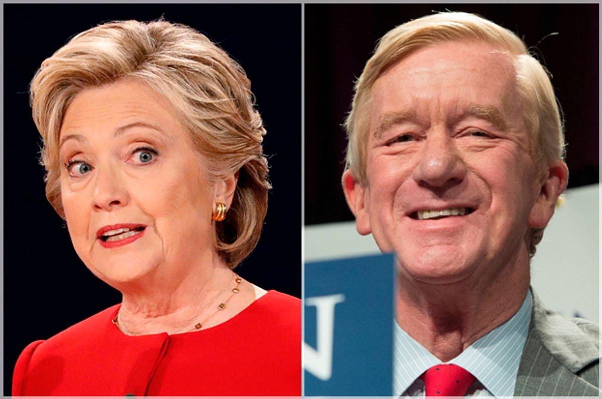 Hillary Clinton; William Weld   (Reuters/Mike Segar/Getty/Bryan R. Smith)