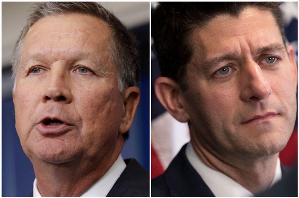 John Kasich; Paul Ryan (AP/Carolyn Kaster/Andrew Harnik)