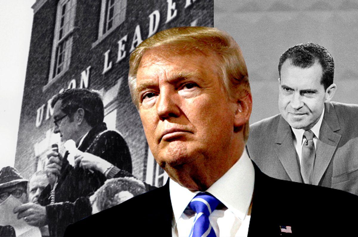 Edmund Muskie; Donald Trump; Richard Nixon   (AP/Reuters/Eric Thayer/Salon)
