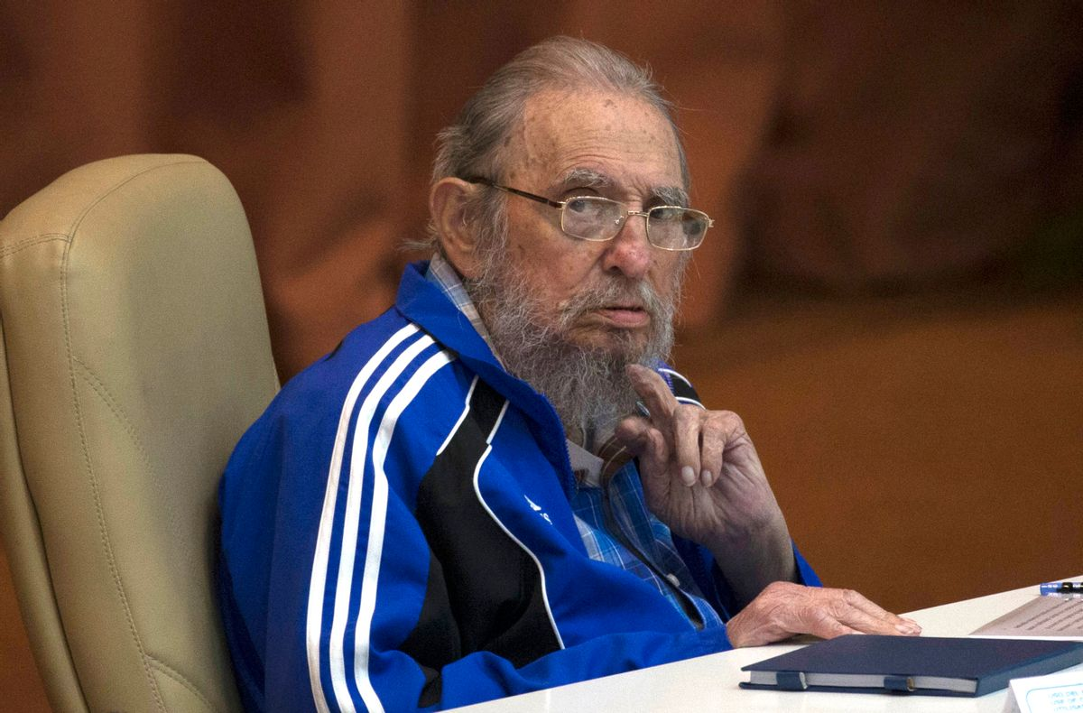 FILE - In this April 19, 2016 file photo, Fidel Castro attends the last day of the 7th Cuban Communist Party Congress in Havana, Cuba. Fidel Castro formally stepped down in 2008 after suffering gastrointestinal ailments and public appearances have been increasingly unusual in recent years. Cuban President Raul Castro has announced the death of his brother Fidel Castro at age 90 on Cuban state media on Friday, Nov. 25, 2016.(Ismael Francisco/Cubadebate via AP, File) (AP)