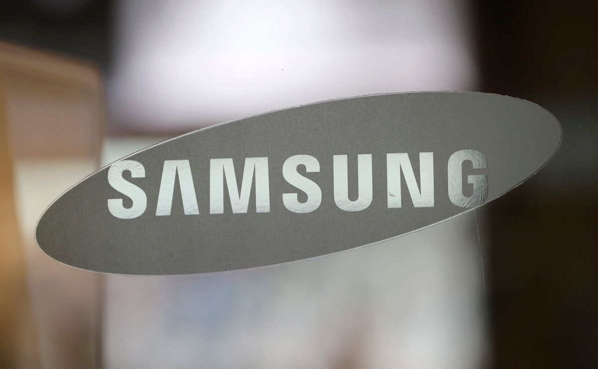 """FILE - In this Oct. 5, 2016 file photo, the corporate logo of Samsung Electronics Co. is seen at its shop in Seoul, South Korea. Nearly 3 million Samsung washing machines are being recalled in the U.S. following multiple injuries, including a broken jaw, due to """"excessive vibration.""""  The recall Friday, Nov. 4,  affects 34 models of washing machines manufactured between 2011 and this year. (AP Photo/Lee Jin-man) (AP)"""