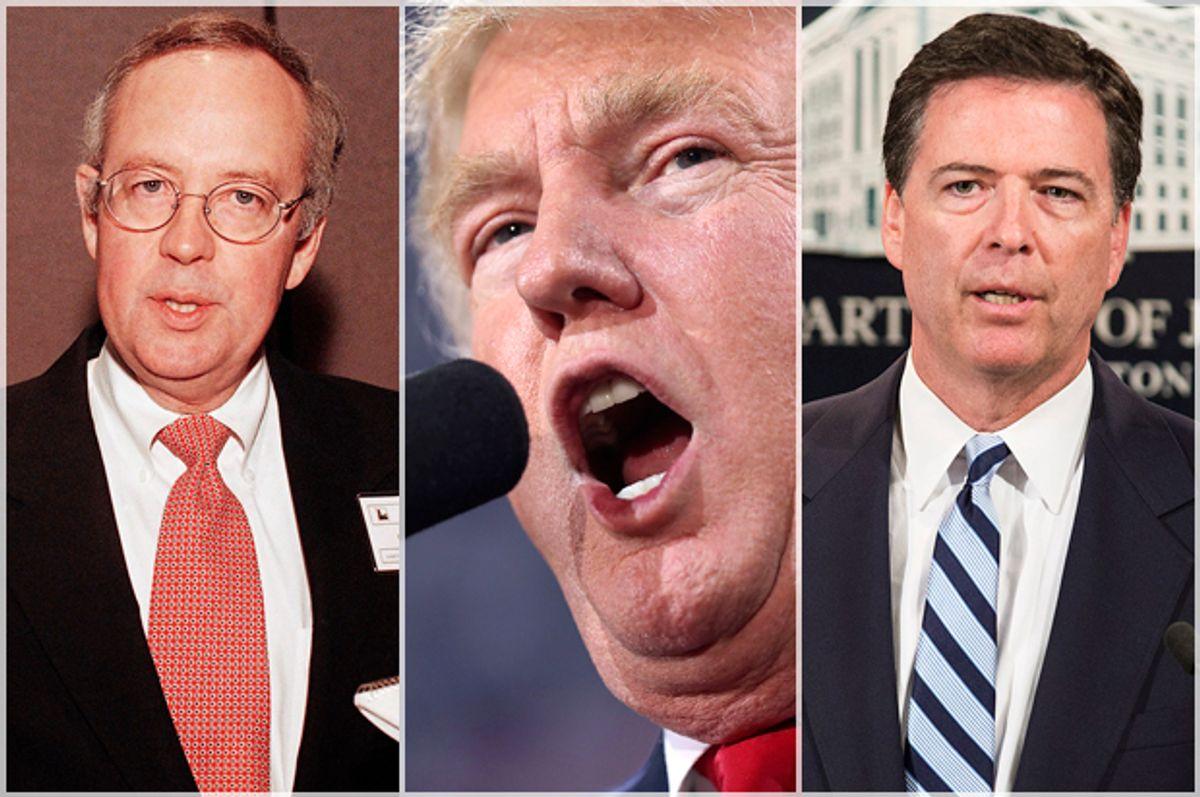 James Comey; Donald Trump; Ken Starr   (AP/Nick Ut/Getty/Joe Raedle/Reuters/Joshua Roberts)