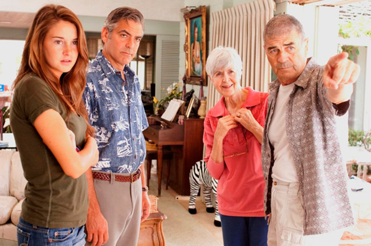 """Shailene Woodley, George Clooney, Barbara L. Southern and Robert Forster in """"The Descendants""""   (Fox Searchlight Pictures)"""