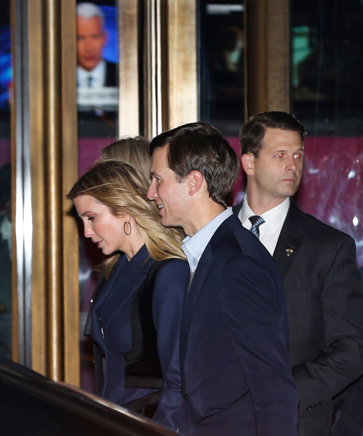 Ivanka Trump and her husband Jared Kushner walk past the Paley Center for Media as they leave the 21 Club after dining with President-elect Donald Trump on Tuesday, Nov. 15, 2016, in New York. (AP Photo/Kathy Willens) (AP Photo/Kathy Willens)