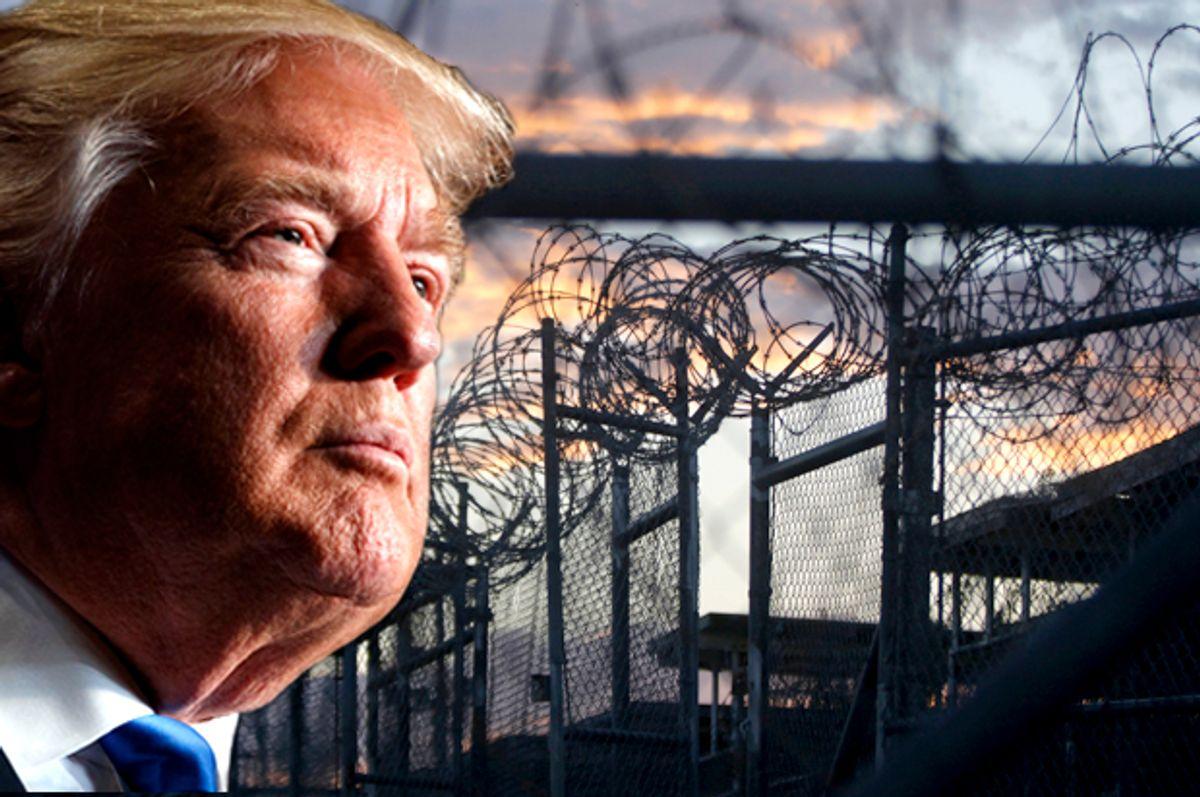 Guantanamo; Donald Trump (AP/Evan Vucci/Charles Dharapak)