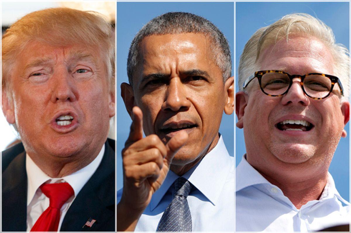 Donald Trump; President Obama; Glenn Beck   (AP/Evan Vucci/Pablo Martinez Monsivais/Jacquelyn Martin)