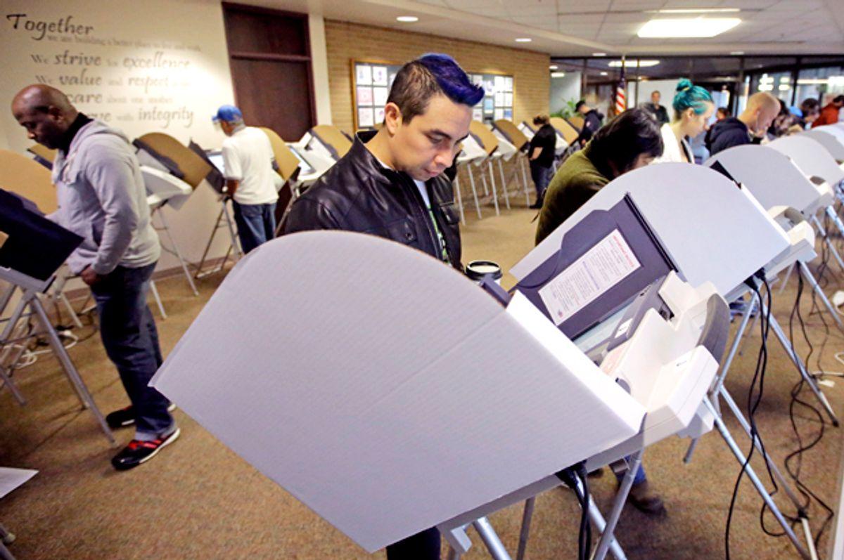 Voters in Salt lake City   (AP/Rick Bowmer)