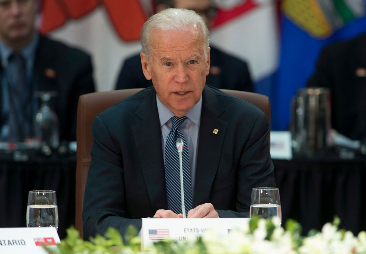 U.S. Vice-President Joe Biden speaks at the First Ministers' and National Indigenous Leaders' meeting in Ottawa, on Friday, Dec. 9, 2016.     (AP)