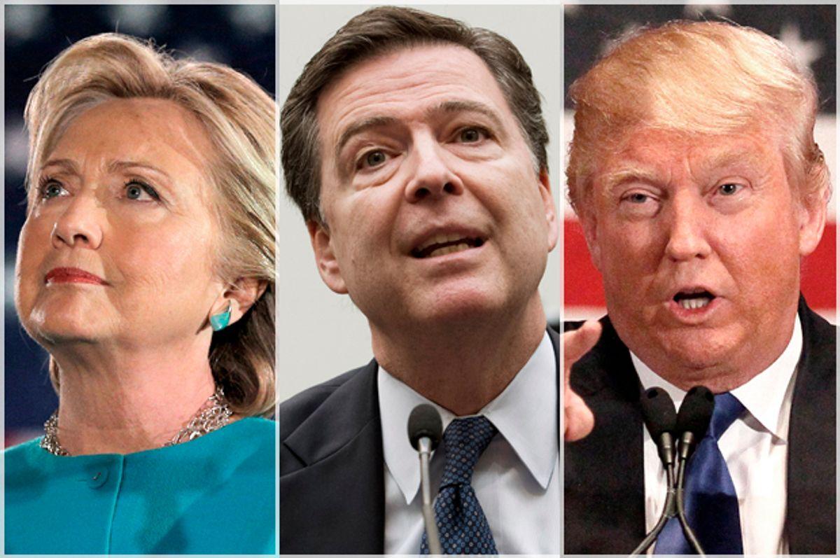 Hillary Clinton; James Comey; Donald Trump   (Reuters/Brian Snyder/AP/Jose Luis Magana/Reuters/Rick Wilking)