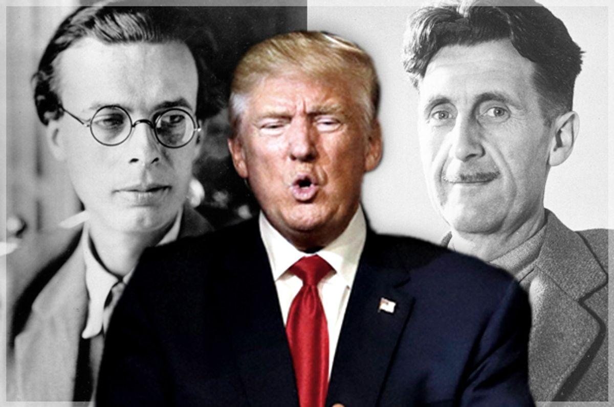 Aldous Huxley; George Orwell; Donald Trump   (AP/John Locher)