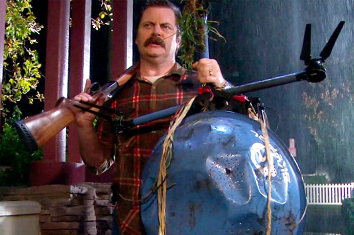 """Nick Offerman as Ron Swanson in """"Parks and Recreation""""   (NBC)"""