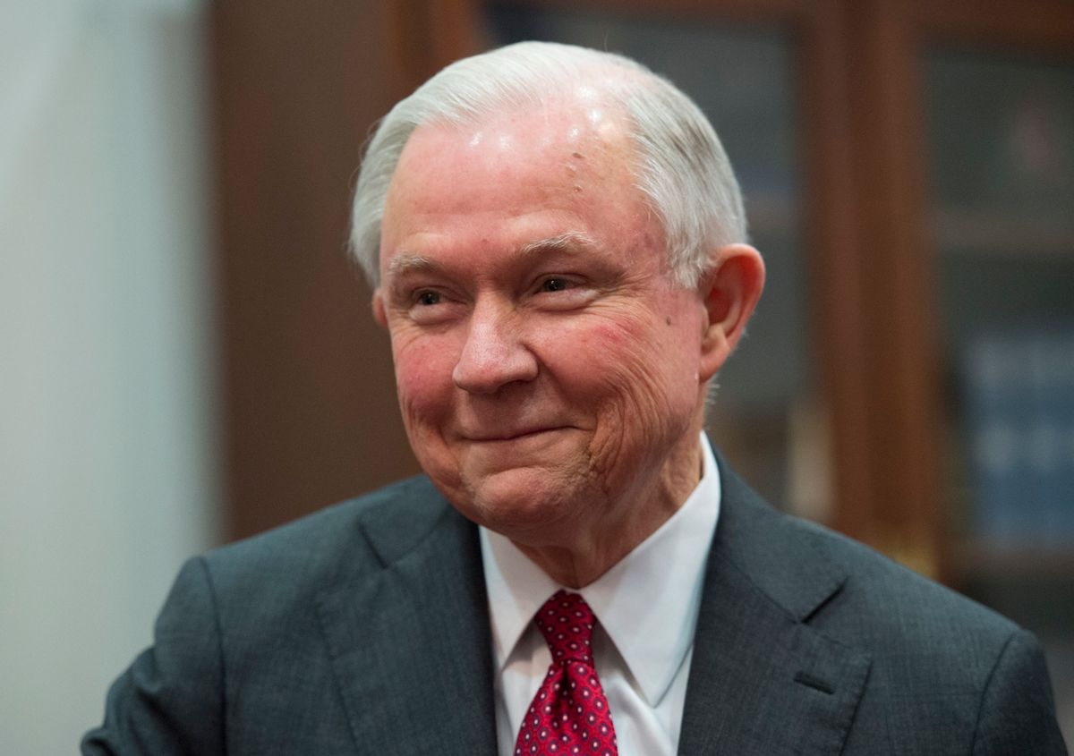 FILE - In this Nov. 29, 2016 file photo, Attorney General-designate, Sen. Jeff Sessions, R-Ala. smiles on Capitol Hill in Washington. Propelled by populist energy, President-elect Donald Trump's candidacy broke long-standing conventions and his incoming Cabinet embodies a sharp turn from the outgoing Obama administration. () (AP Photo/Molly Riley, File)