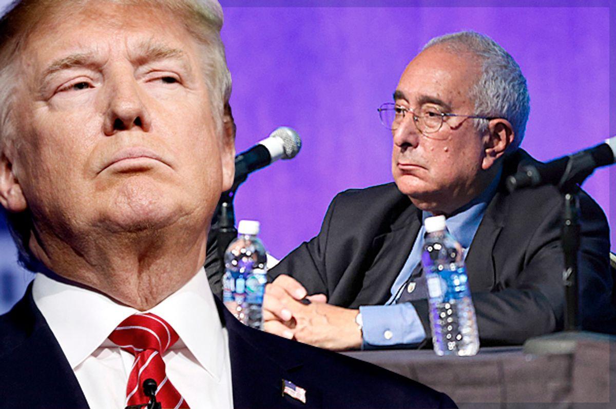 Donald Trump; Ben Stein   (AP/Rick Wilking/Getty/Imeh Akpanudosen/Photo montage by Salon)