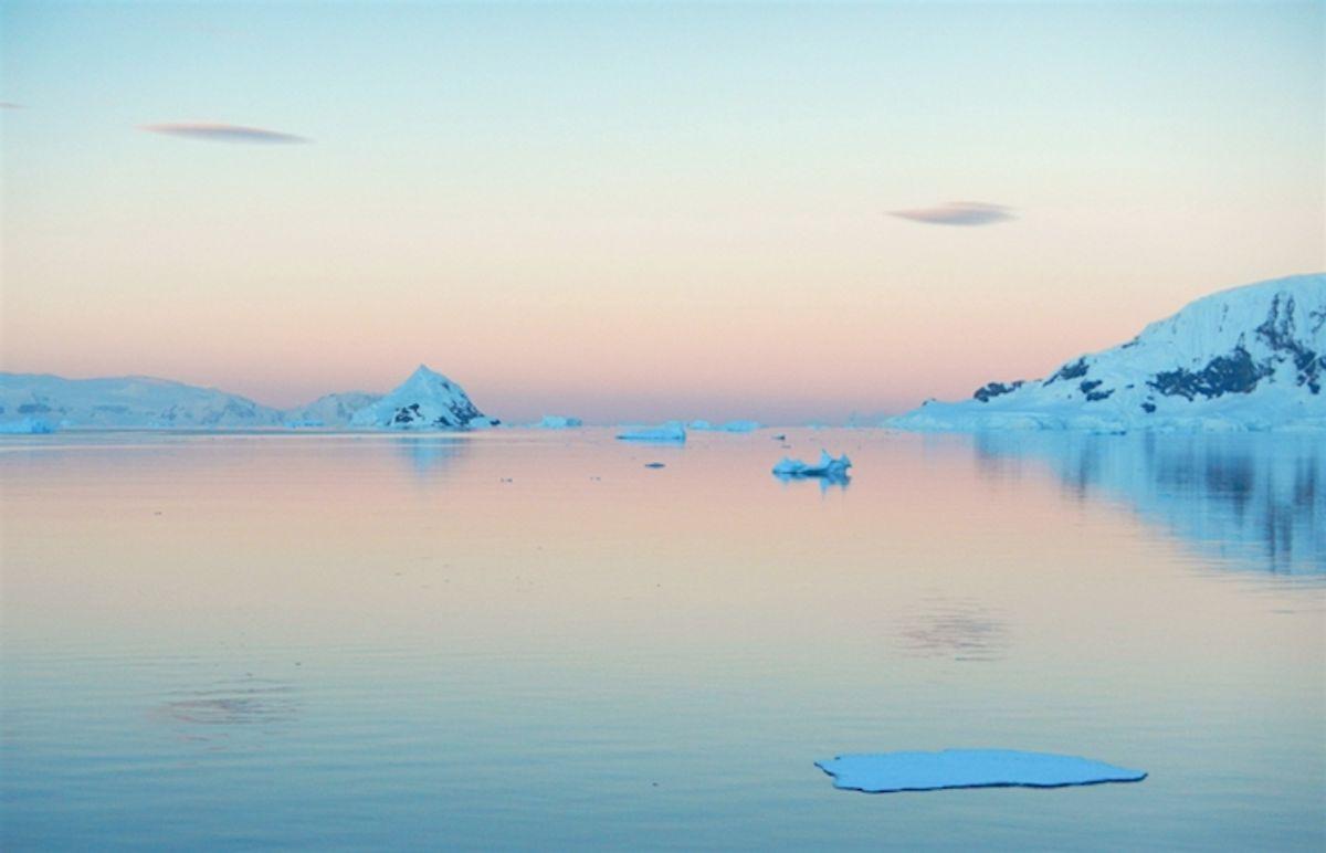 The view from Station Obama, located off the Antarctic Peninsula. (Natasja van Gestal/Northern Arizona Univiversity)