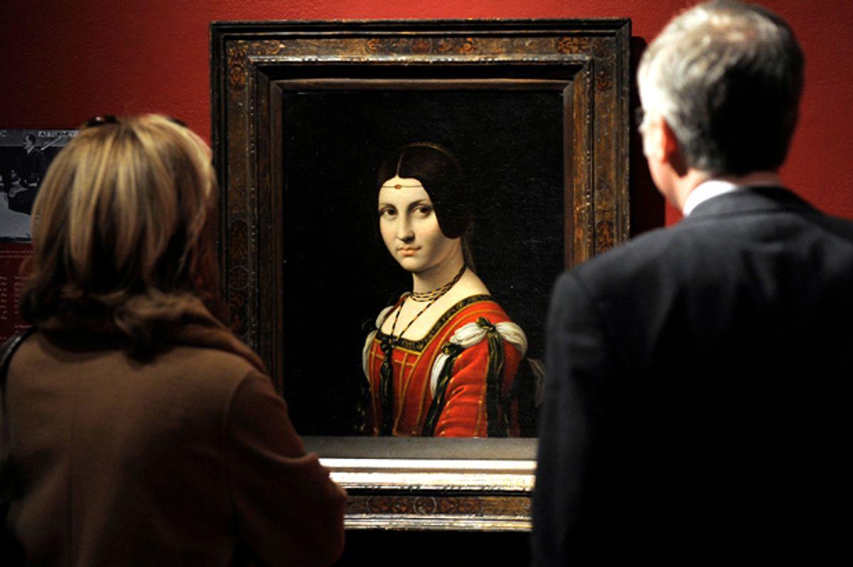 "A painting called ""La Belle Ferronniere"" by a follower of Leonardo da Vinci  (Getty/Timothy A. Clary)"