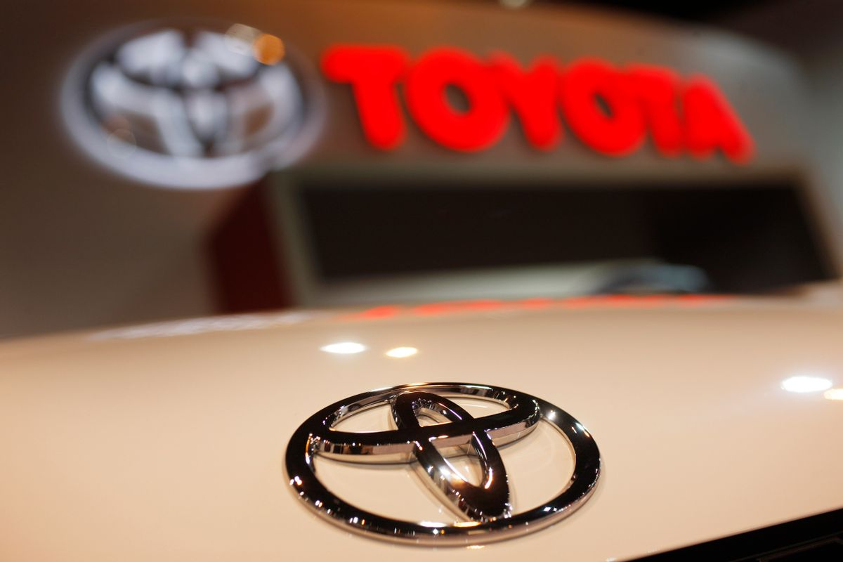 In this April 17, 2010 file photo, a Toyota emblem is seen on a car during the Denver Auto Show in Denver. (AP Photo/David Zalubowski, File)