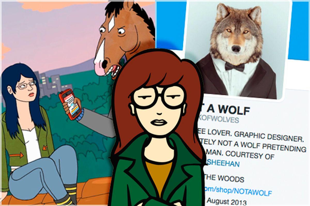 Daria; Bojack Horseman; Not a Wolf twitter account   (Paramount Television/Netflix)