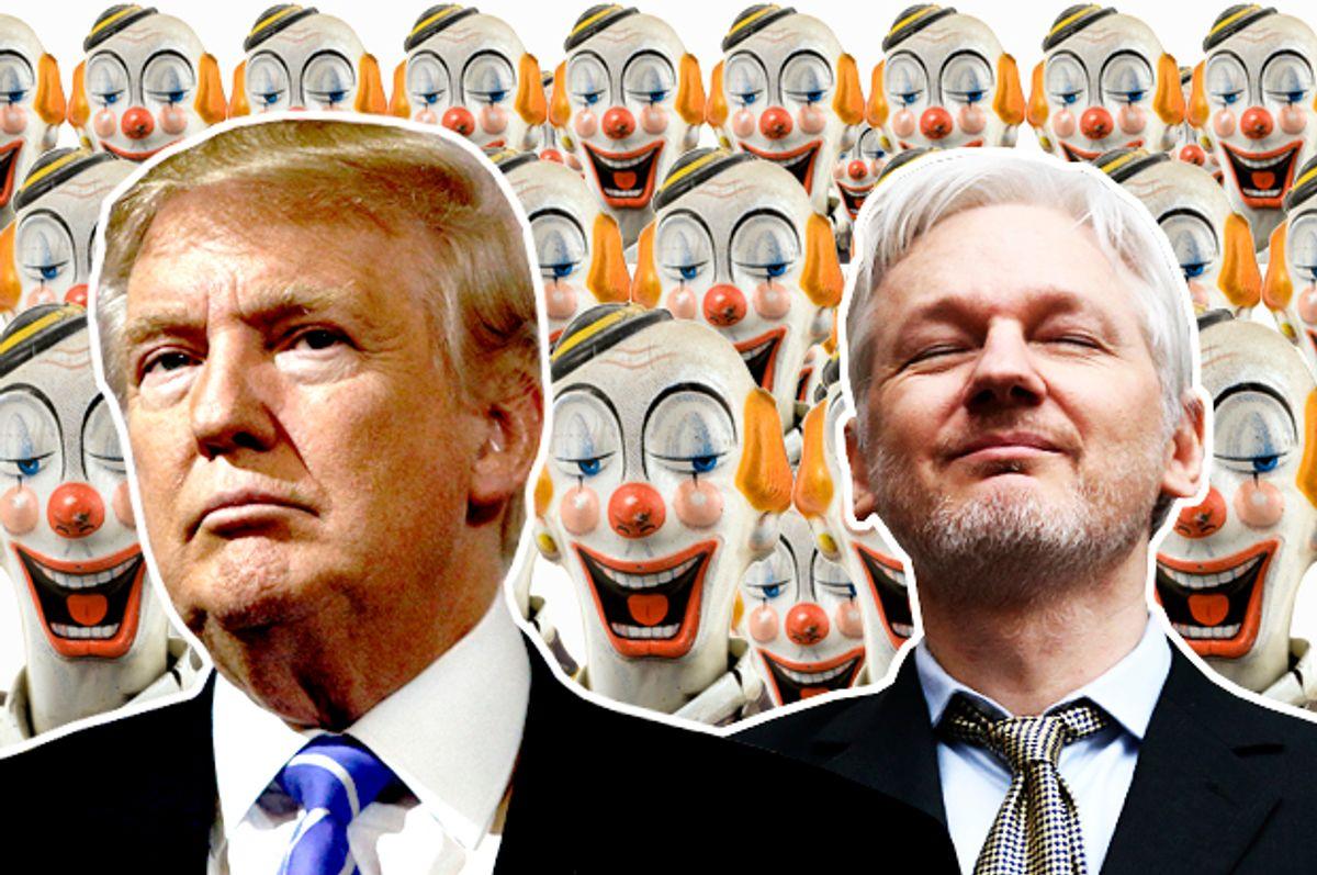 Donald Trump; Julian Assange   (Reuters/Eric Thayer/Getty/Carl Court/Ekely/Salon)
