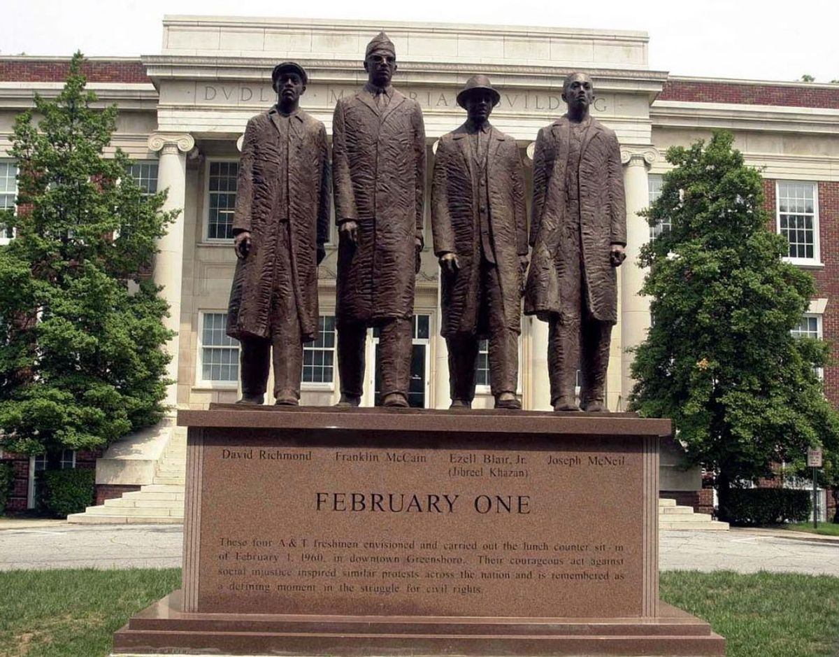 Greensboro Four monument (Cewatkin)