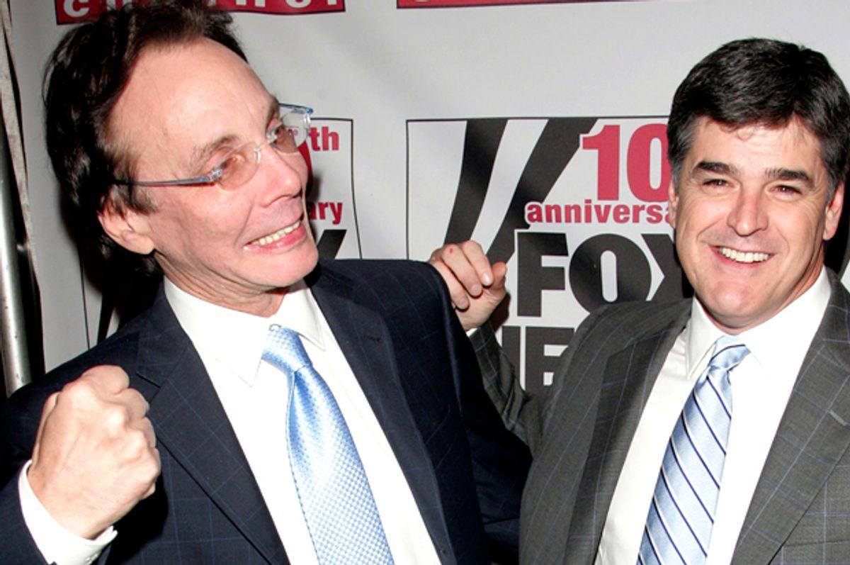 FOX News Correspondents Alan Colmes and Sean Hannity   (Getty/Peter Kramer)
