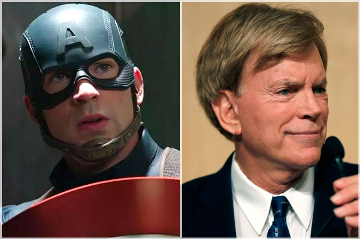 Captain America; David Duke   (Marvel/AP/Gerald Herbert)