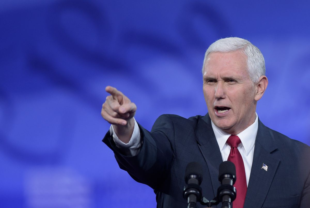 Vice President Mike Pence speaks at the Conservative Political Action Conference (CPAC) in Oxon Hill, Md., Thursday, Feb. 23, 2017. (AP Photo/Susan Walsh) (AP)