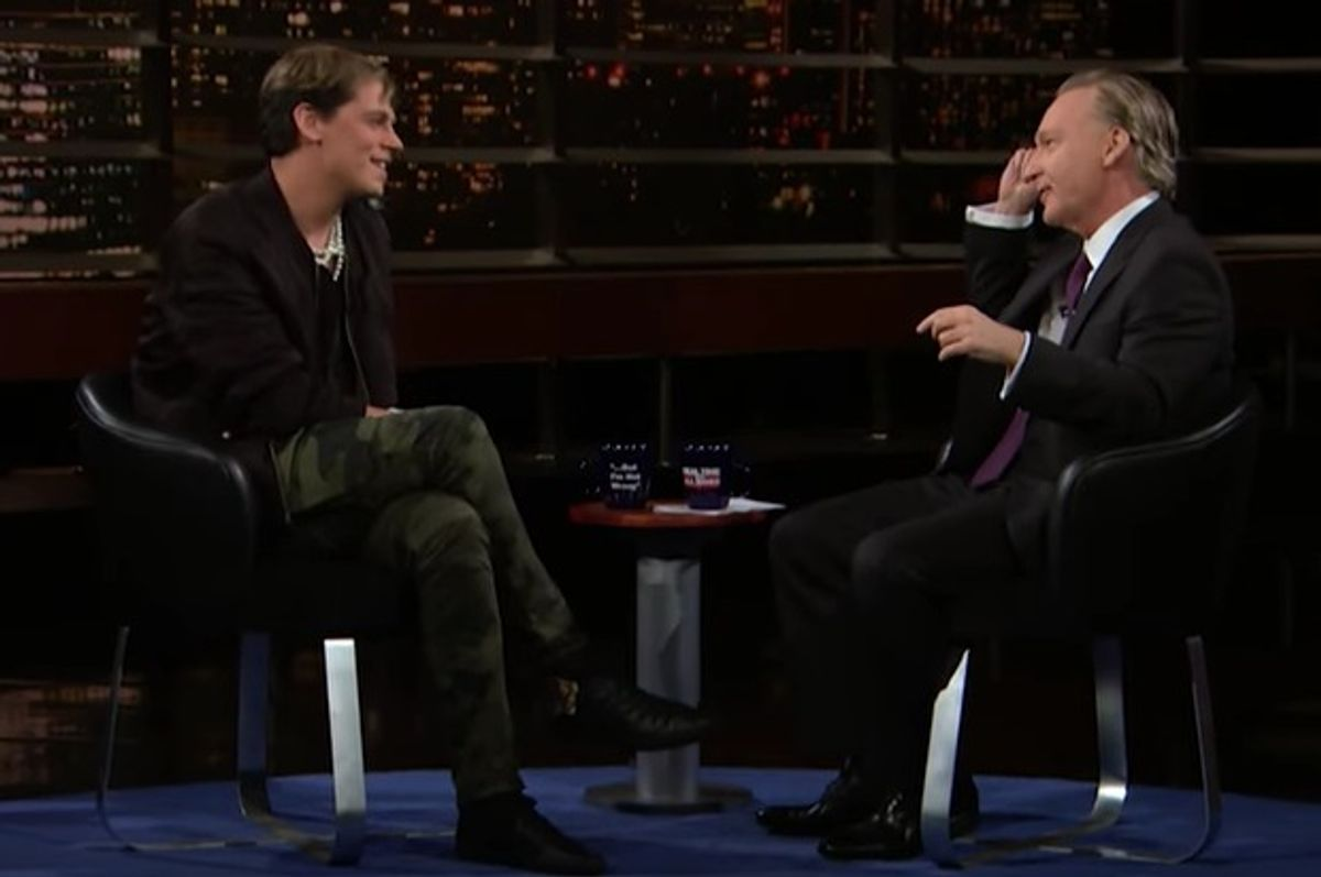 Milo Yiannopoulos and Bill Maher debate on Real Time with Bill Maher 2.17.17