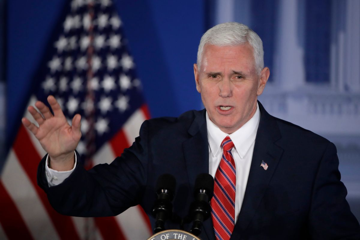 FILE - In this Jan. 26, 2017, file photo, Vice President Mike Pence speaks at the Republican congressional retreat in Philadelphia.  Pence is making his debut on the world stage with a trip to Germany and Belgium designed to reassure European and Mideast partners about U.S. foreign policy. (AP Photo/Matt Rourke, File) (AP)